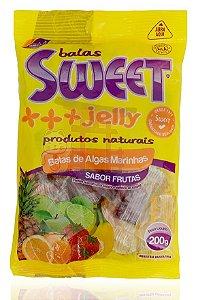 Bala de Algas Marinhas sabor Frutas - Sweet Jelly 200 g