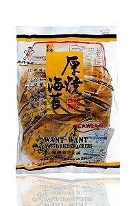 Biscoito de Arroz com Alga Marinha  - Want Want Seaweed Rice Cracker 136g