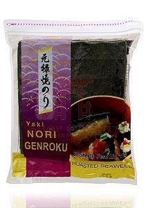 Nori - Alga Marinha para Sushi e Temaki com 50 folhas - Yakinori Genroku
