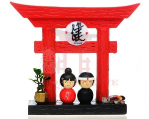Portal Japonês (Tori) com Ideograma de Saúde