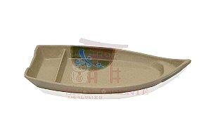 Barco Pequeno para Sushi e Sashimi 26 cm - Bege