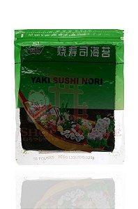 Nori - Alga Marinha para Sushi e Temaki com 50 folhas - Globo