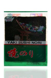 Nori - Alga Marinha para Sushi e Temaki com 10 folhas - Globo