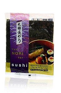 Nori - Alga Marinha para Sushi e Temaki com 10 folhas - Yakinori Genroku