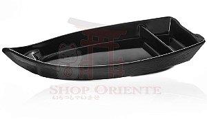 Barco Pequeno para Sushi e Sashimi 26 cm - Preto