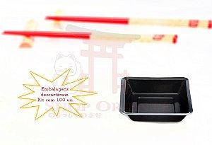 Embalagem Descartável para Shoyu 7 cm x 7 cm (100 unidades)