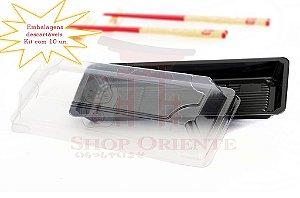 Embalagem Descartável para Sushi 21 cm x 8 cm (10 unidades)
