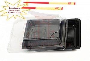 Embalagem Descartável para Sushi 23 cm x 14 cm (10 unidades)
