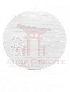 Luminária Japonesa Redonda Branca 40 cm