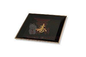 Ukesara Grande (Pires para Copo de Saquê) com Ideograma Japonês