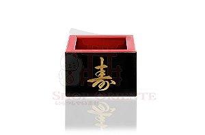 Copo para Saquê (Massu) Pequeno com Ideograma Japonês