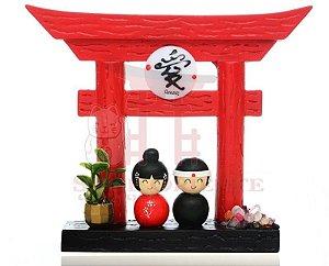 Portal Japonês (Tori) com Ideograma de Amor