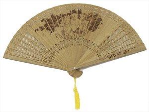 Leque Oriental 23 cm - Buda da Alegria