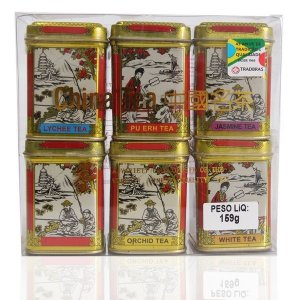 Chá Chinês 6 Mini Latas Golden 159 g