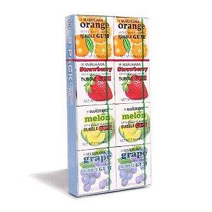Chiclete Sortido 8 unidades Bubble Gum - Marukawa 43,2 g