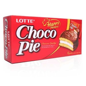 Choco Pie (Alfajor de Chocolate) com 6 unidades (168 g) - Lotte