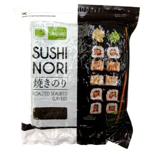 Nori - Alga Marinha para Sushi e Temaki com 50 folhas