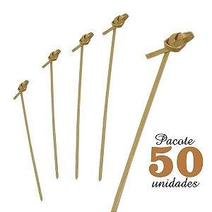 Espeto de Bambu com Nó 15 cm com 50 unidades