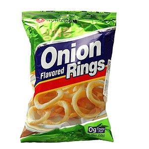 Salgadinho sabor Cebola (Onion Rings) 50 g - Nong Shim