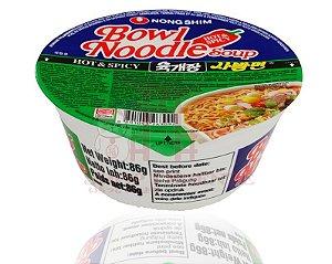 Macarrão Instantâneo sabor Picante -Bowl Noodle Soup - Nong Shim 86 g