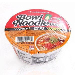 Macarrão Instantâneo sabor Legumes Apimentado - Bowl Noodle Soup - Nong Shim 86 g