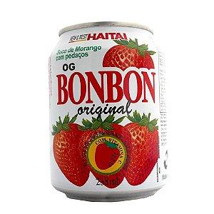 Suco de Morango com Pedaços - Haitai 238 ml