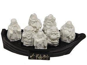 7 Deuses da Felicidade e da Sorte no Barco 14 x 6 cm