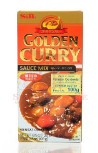 Curry em Tablete (Golden Curry Mild - Amakuti) S&B 92g