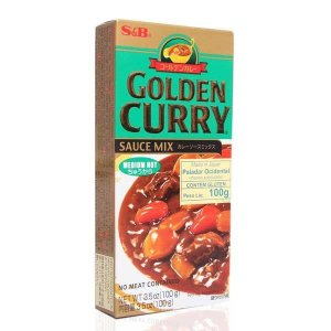 Curry em Tablete (Golden Curry Medium Hot - Chukara) S&B 100g