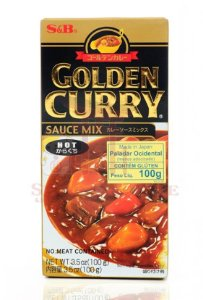 Curry em Tablete (Golden Curry Hot - Karakuchi) S&B 92 g