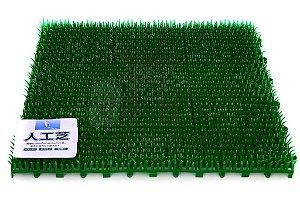 Tapete Plástico tipo Grama Artificial para Sushi 30 cm x 30 cm