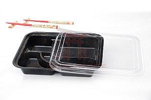 Embalagem Descartável para Teishoku 27 x 21 cm (10 unidades)
