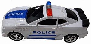 Carro Polícia Som E Luz Transformers Robot, Bate E Volta