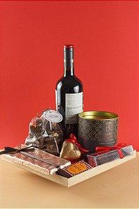 Cesta de Chocolate Luxo Especial Dia dos Namorados