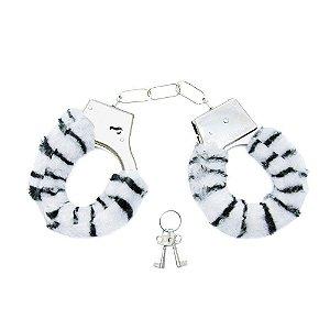 Algema de Pelúcia Sensual Zebra
