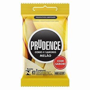 Preservativo Prudence com Aroma e Sabor Melão - 3 Unidades
