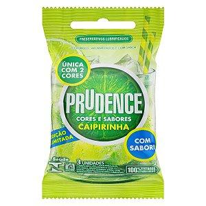 Preservativo Prudence com Aroma e Sabor Caipirinha - 3 Unidades