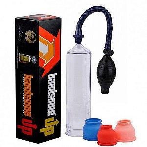 Bomba Peniana Manual com pera e controle de sucção