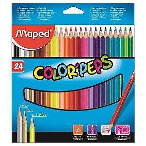 Lapis De Cor 24 Cores Color Peps Maped