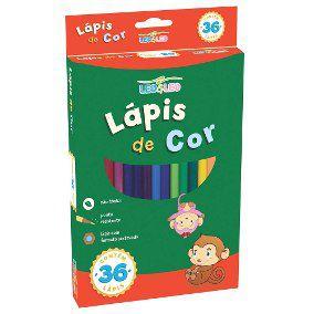 Lápis de Cor 36 cores Sextavado Leo & Leo