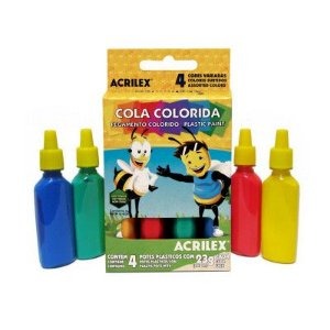 COLA COLORIDA COM 4 CORES - ACRILEX