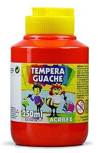 Tempera Guache 250 ml, Acrilex, Vermelho Fogo