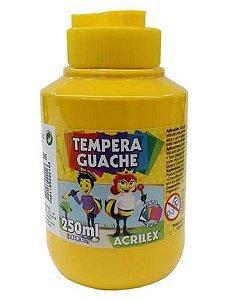 Tinta Guache 250ML Acrilex  Amarelo