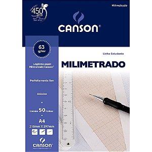 Bloco Milimetrado A4 50 FL 1 UN Canson