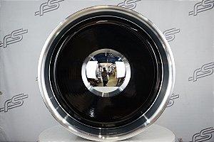 Roda Smoothie Preta Borda Diamantada Aro 20 Tala 10,5  / Furação 5 e 6 Furos