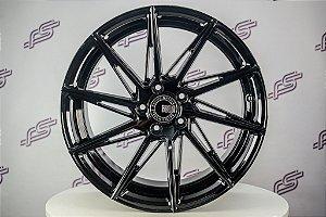 Jogo De Rodas Euro Racing Mod: ERW 002 Preto Brilhante 5x120 - 20x8,5 e 20x10
