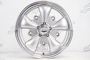 Roda Raw Classics 5 Spoke Prata Diamantada Aro 15 / 5 Furos (5x205)