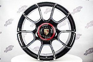 Jogo De Rodas Porsche 992 Turbo S Forged Preto Diamantado 5x130 - 20x8,5 e 21x11,5