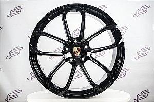 Jogo De Rodas Porsche Cayenne Gts Preto 5x130 - 22x9,5  e 22x11