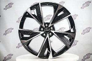 Jogo De Rodas Audi Rs7 Preto Diamantado 5x112 - 22x9,5
